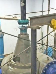 Bomba de agua, trabajo Vertical
